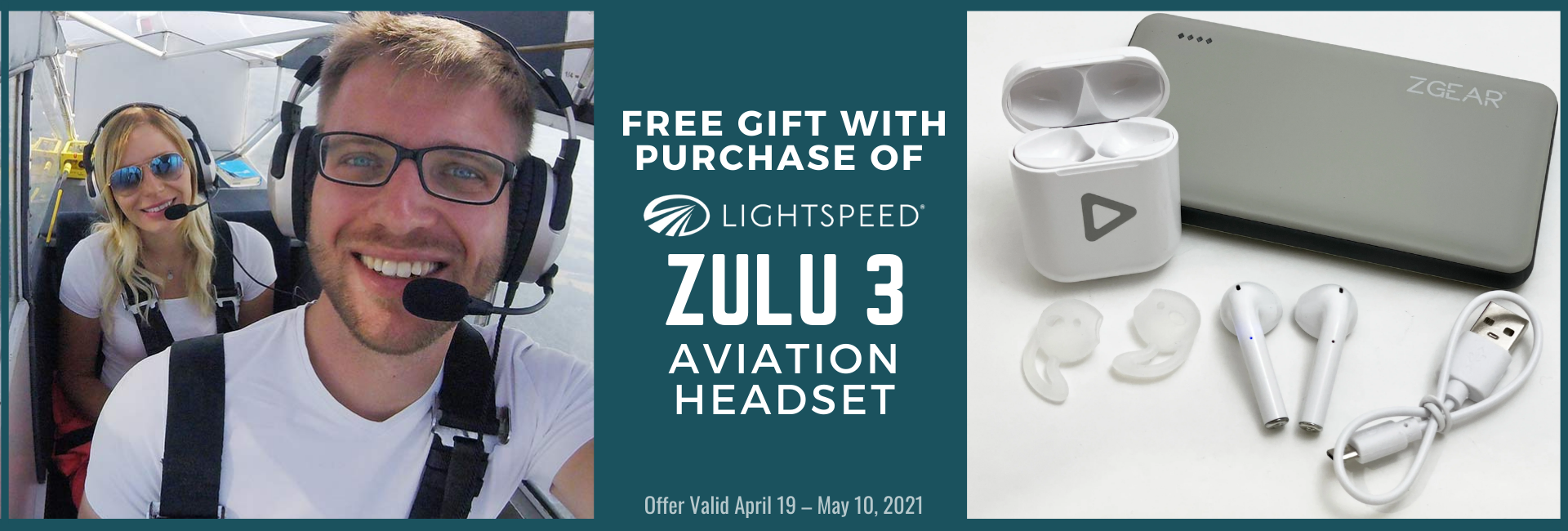 FREE Gift With Purchase of Lightspeed Zulu 3 from Fallon Pilot Shop