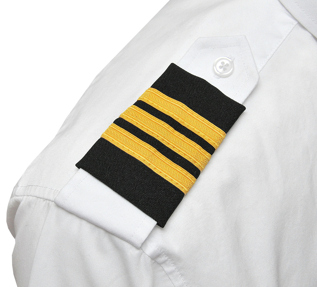 Three Gold Bar Epaulets - Nylon on Black