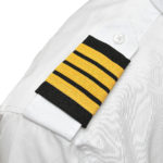 Four Gold Bar Epaulets - Nylon on Black