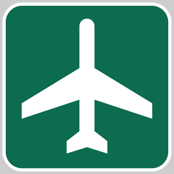 Airport Ahead Sign