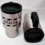 16 oz. stainless steel, double-wall insulated mug.