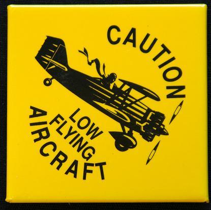 Humorous Aviation Fridge Magnet.