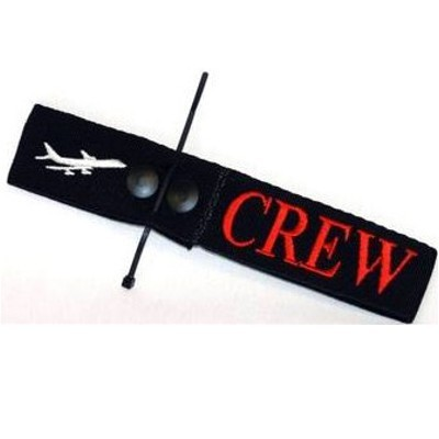 Crew Tag - Embroidered on Canvas
