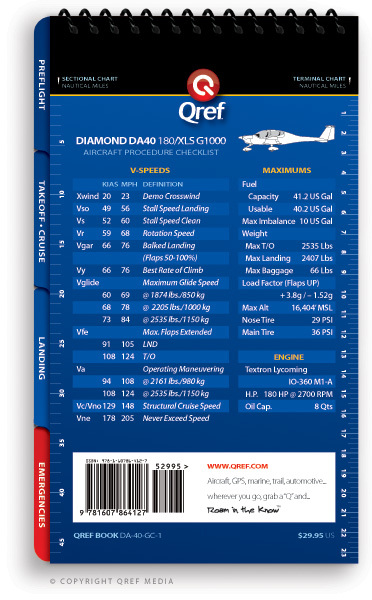 Quick Reference Media Diamond Star DA40 Qref Book
