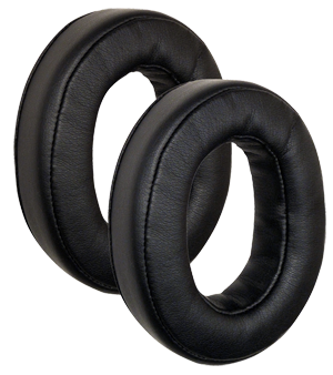 Full-Size Leatherette Ear Seals Plush, Dura-Stitched leatherette ear seals with slow-recovery 'memory' foam cradle you in comfort. Oval, circum-aural (over-the-ear) design envelopes the ears for enhanced ANR performance while reducing heat buildup.