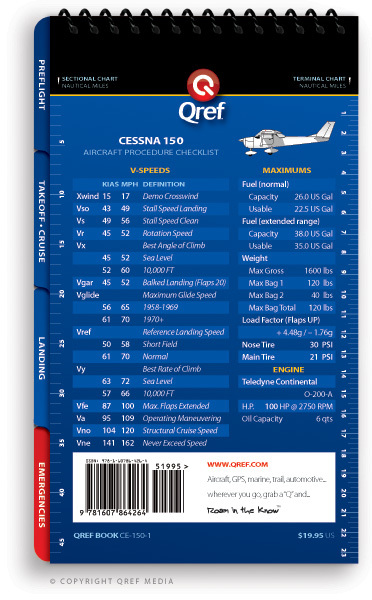 Quick Reference Media Cessna 150 Commuter/Trainer Qref Book