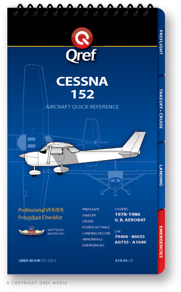 Quick Reference Media Cessna 152 Qref Book
