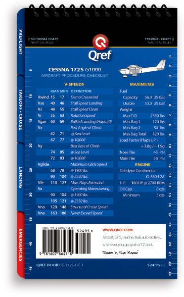 Quick Reference Media Cessna 172S G1000 Qref Book